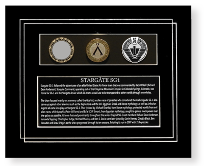 STARGATE SGI PROP & GOLD COIN DISPLAY