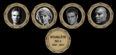 STARGATE COMMEMORATIVE GOLD SET SET (4)