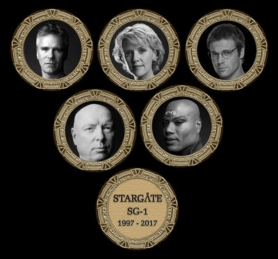 STARGATE COMMEMORATIVE GOLD SET SET (5)