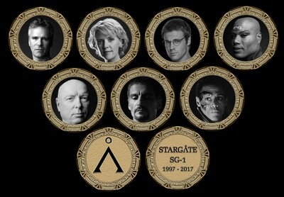 STARGATE COMMEMORATIVE GOLD SET SET (8)