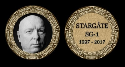 STARGATE COMMEMORATIVE GOLD COIN - GEN HAMMOND
