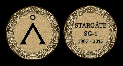 STARGATE COMMEMORATIVE GOLD COIN - EARTH GLYPH