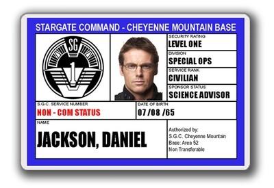 STARGATE SGC I.D. CARD - DANIEL JACKSON