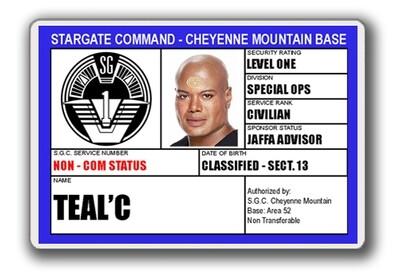 STARGATE SGC I.D. CARD - TEAL'C