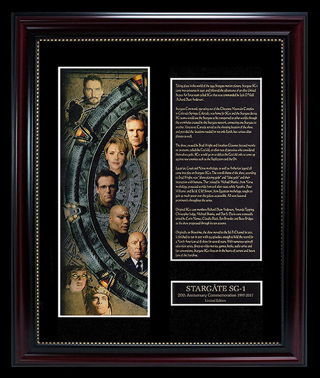 STARGATE 20TH ANNIVERSARY DISPLAY (FRAMED)
