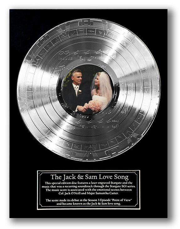STARGATE 'JACK & SAM' ENGRAVED WEDDING DISC