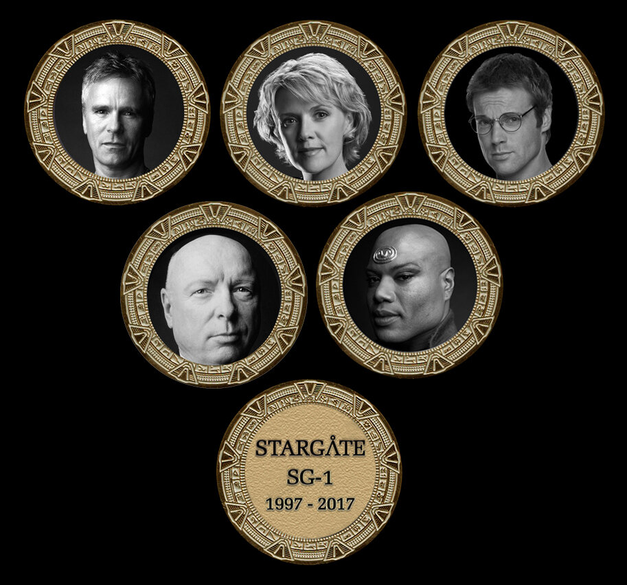 STARGATE COMMEMORATIVE GOLD SET SET (5)