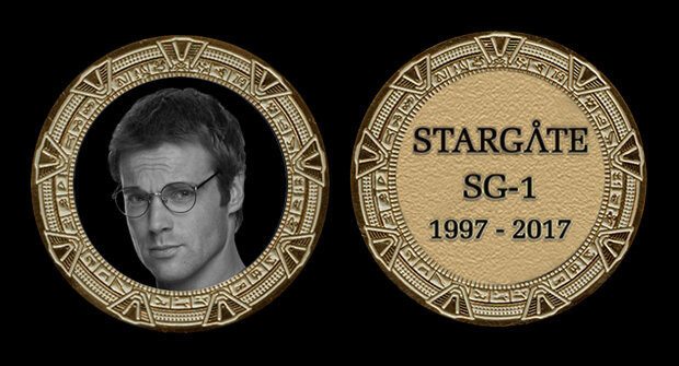 STARGATE COMMEMORATIVE GOLD COIN - DANIEL JACKSON