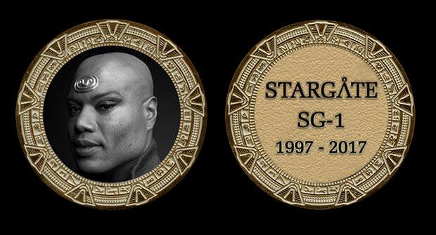 STARGATE COMMEMORATIVE GOLD COIN - TEAL'C