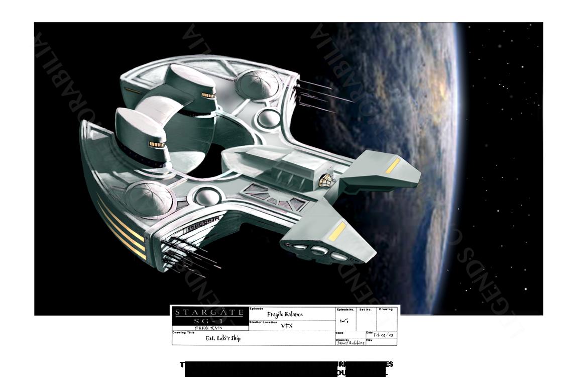 STARGATE CONCEPT ART: LOKI'S SHIP