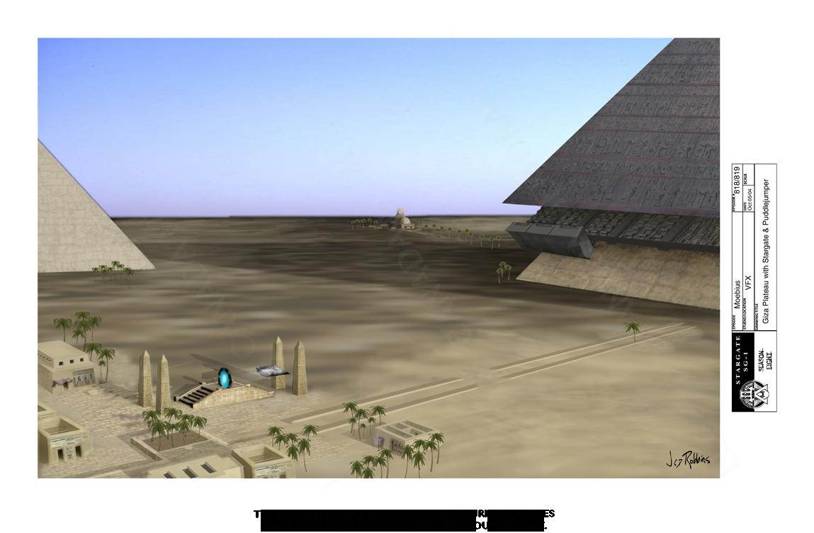 STARGATE CONCEPT: GIZA PLATEAU WITH PUDDLE JUMPER