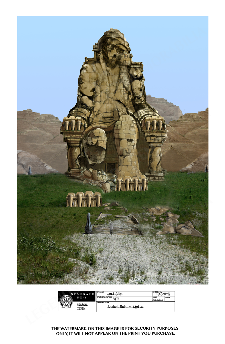 STARGATE CONCEPT ART: ANCIENT RUINS