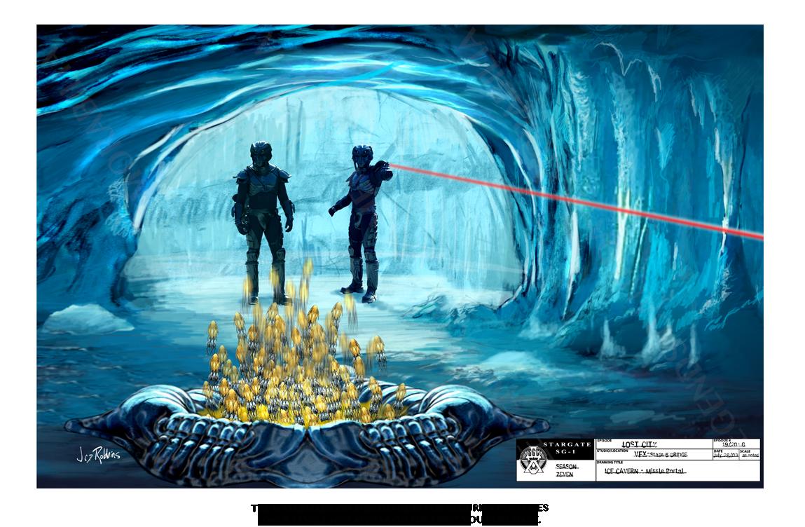 STARGATE CONCEPT ART: ICE CAVERN - MISSILE PORTAL
