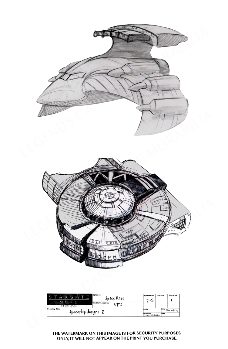 STARGATE CONCEPT ART: SPACE SHIP DESIGNS (2)