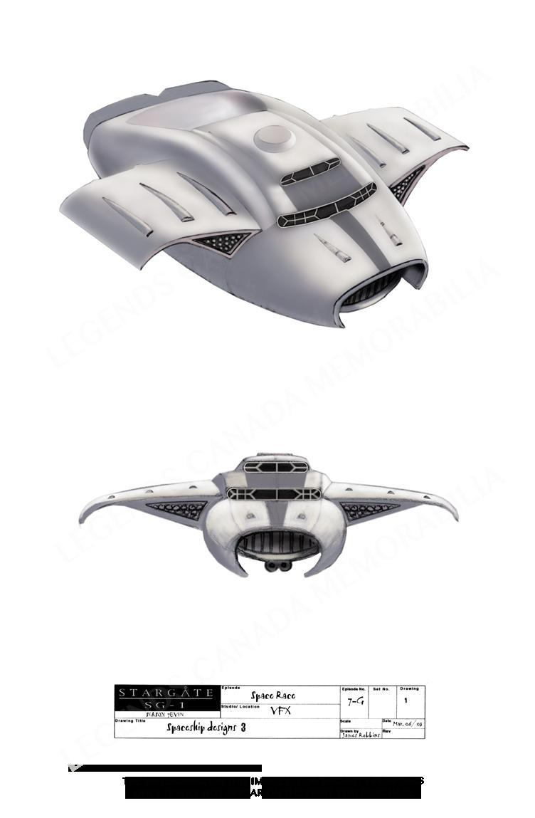 STARGATE CONCEPT ART: SPACE SHIP DESIGNS (3)