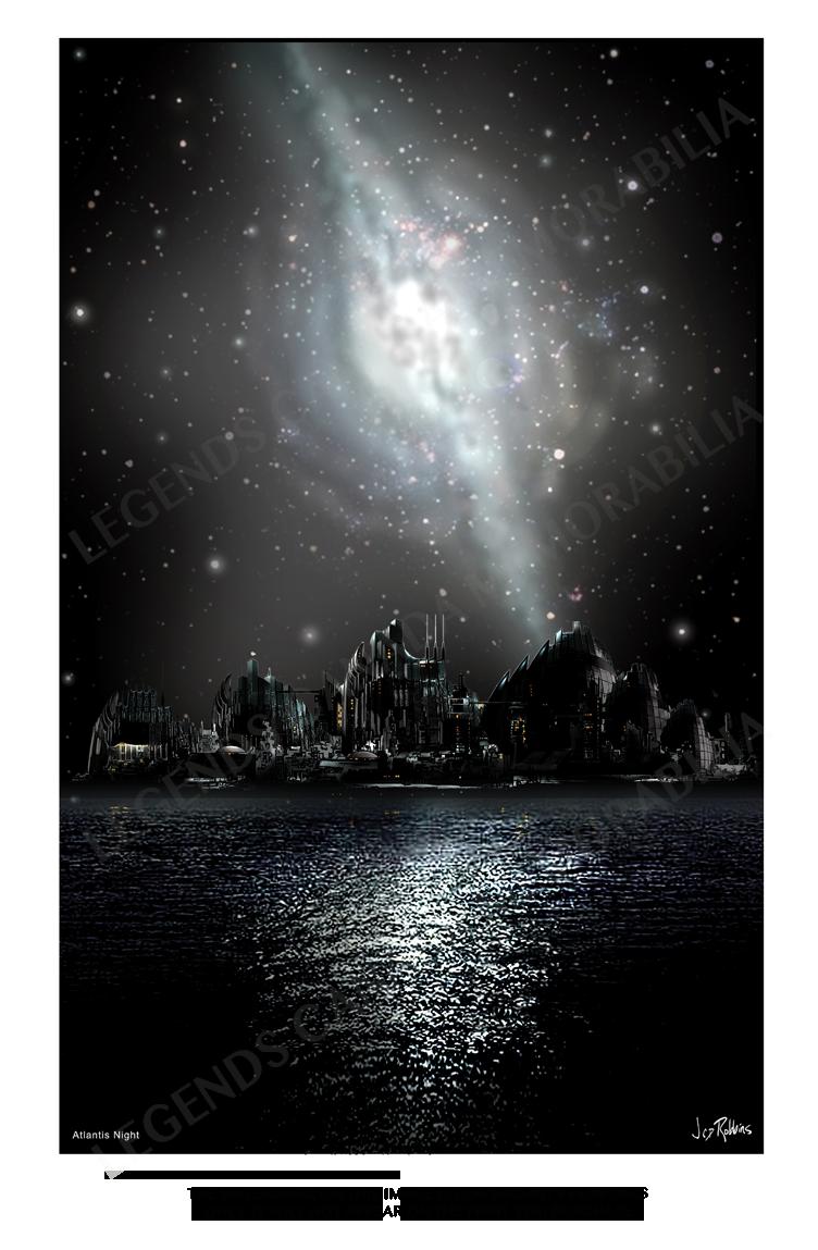 STARGATE CONCEPT ART: ATLANTIS NIGHT
