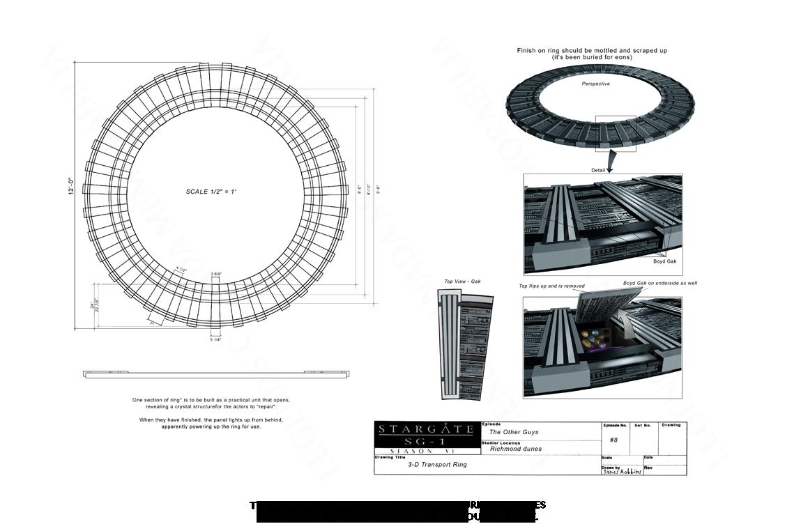 STARGATE CONCEPT ART: 3-D TRANSPORT RING