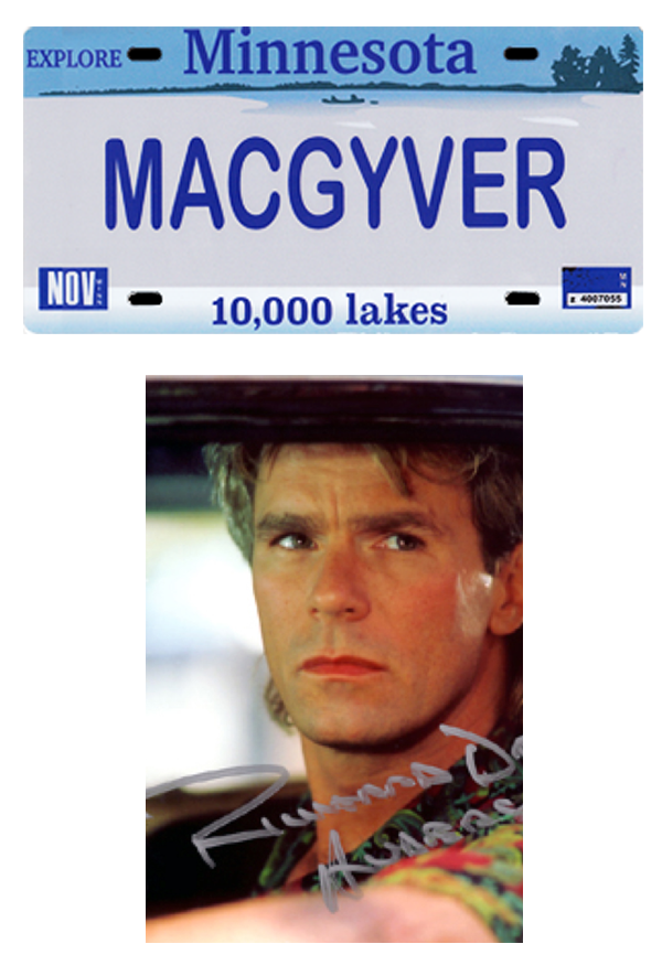 MACGYVER LICENSE PLATE
