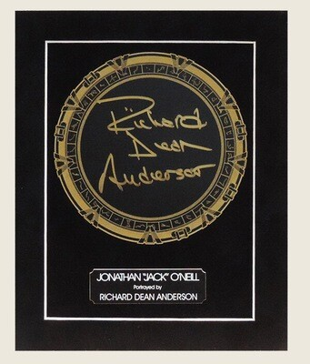 RICHARD DEAN ANDERSON SIGNED STARGATE DISPLAY - ON SALE!