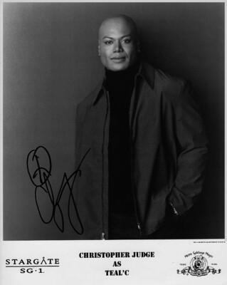 Christopher Judge signed Stargate photo (63607)