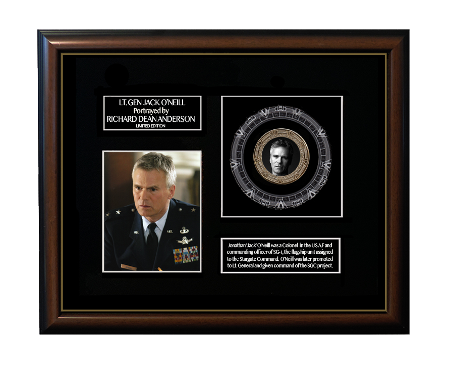 FRAMED JACK O'NEILL GOLD COIN DISPLAY - LIMITED SERIES!