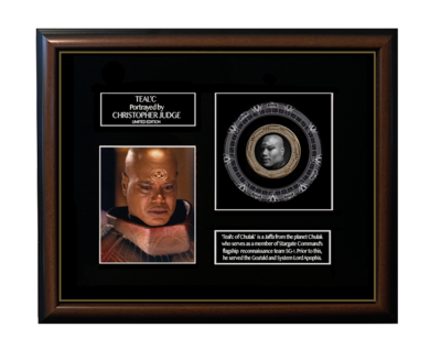 FRAMED TEAL'C GOLD COIN DISPLAY - LIMITED SERIES!