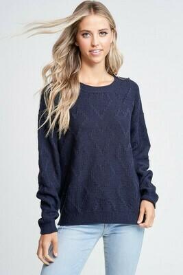 Romina Heart Textured Sweater