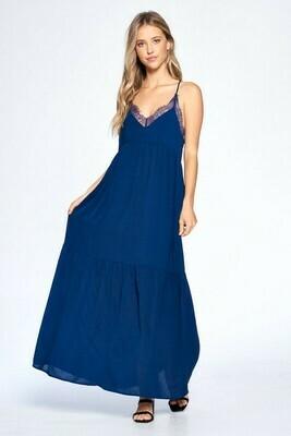 Megan Lace Trim Midi Dress