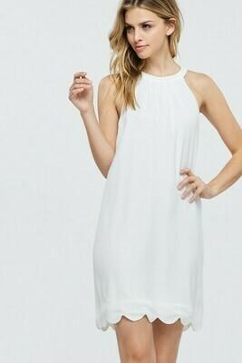 Giselle Scalloped Hemline Dress