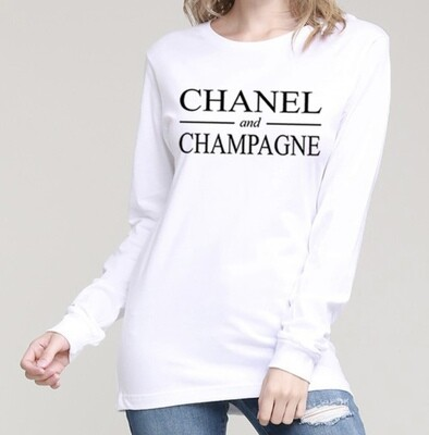 Chanel & Champagne Shirt