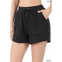 Cotton Shorts, Black