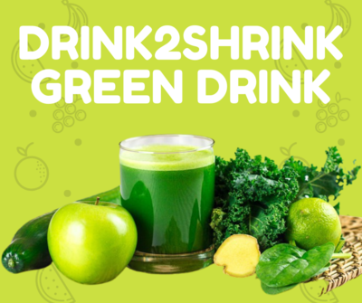The Drink2Shrink Green Drink System - 3 Day Trial Pack $20  FREE SHIPPING