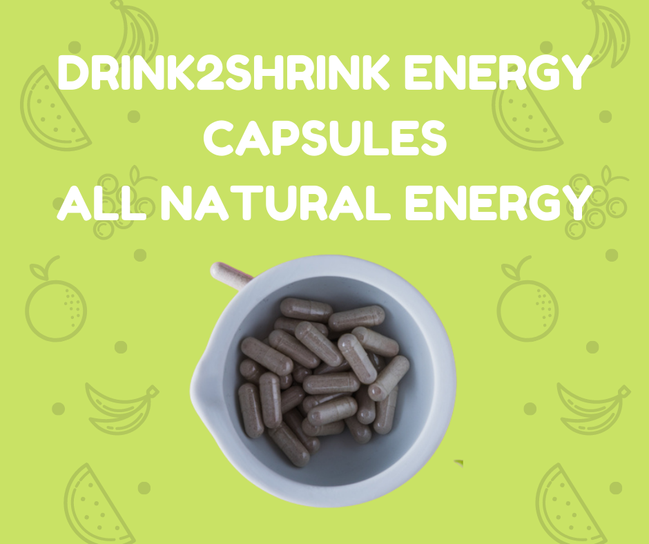 Drink2Shrink Energy Capsules - All Natural Energy - 60 Capsules