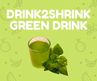 The Drink2Shrink Green Drink System - Trial Pack $10  FREE SHIPPING