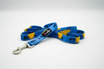 """""""Sunsets and Sandy Paws"""" Dog Leash-SKY BLUE"""