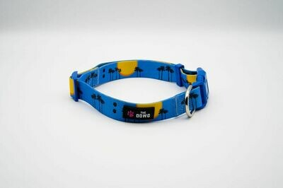 """""""Sunsets and Sandy Paws"""" Dog Collar-SKY BLUE"""