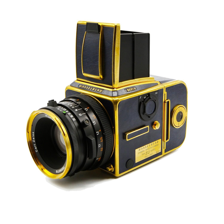 HASSELBLAD 503 CX Gold/Blue 50th Anniversary, Planar 80mm/F2,8 CF T*