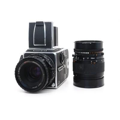 HASSELBLAD 503CX Chrome, Planar 80mm/F2,8 CB T* + Sonnar 150mm/F4 CF T*