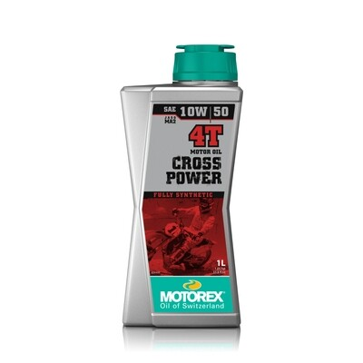 CROSS  POWER  4T  SAE  10W/50 JASO  MA2  Motor Oil 1L