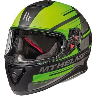 ჩაფხუტი - MT Helmets - THUNDER 3 SV PITLANE C6 MATT FLUOR GREEN