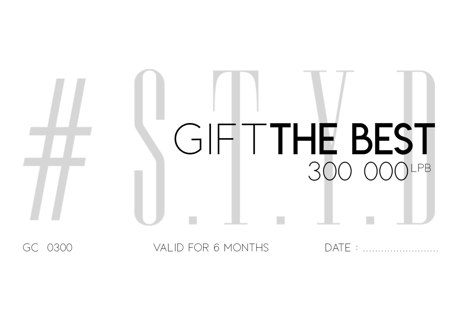 S.T.Y.D Gift Card