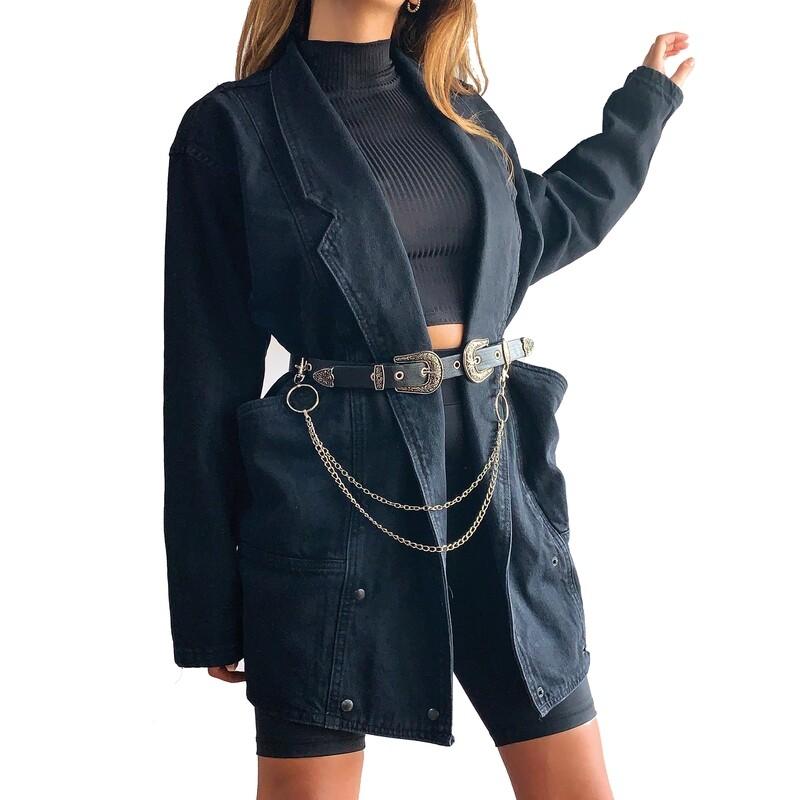 PHILL - denim trench coat -
