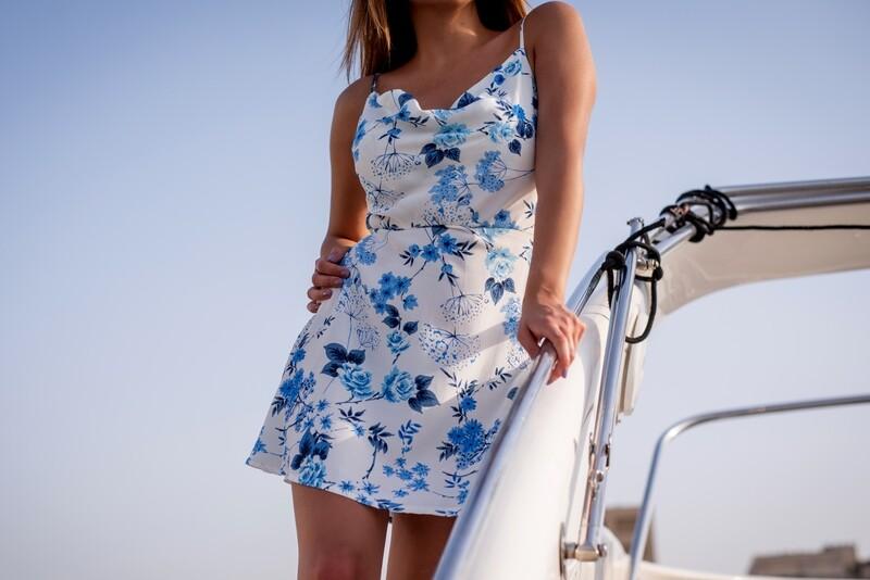 BLUE BLOOM   - dress-