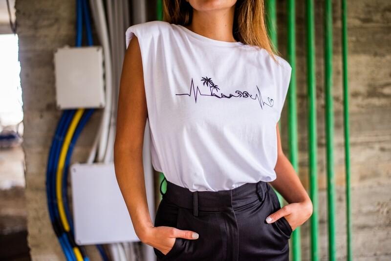 HEART BEAT  - t shirt -