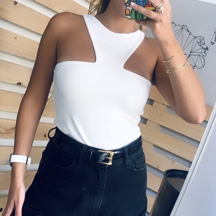 CUT OUT IN WHITE