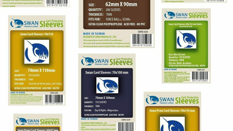Swan Panasia Sleeves (55 x 82)