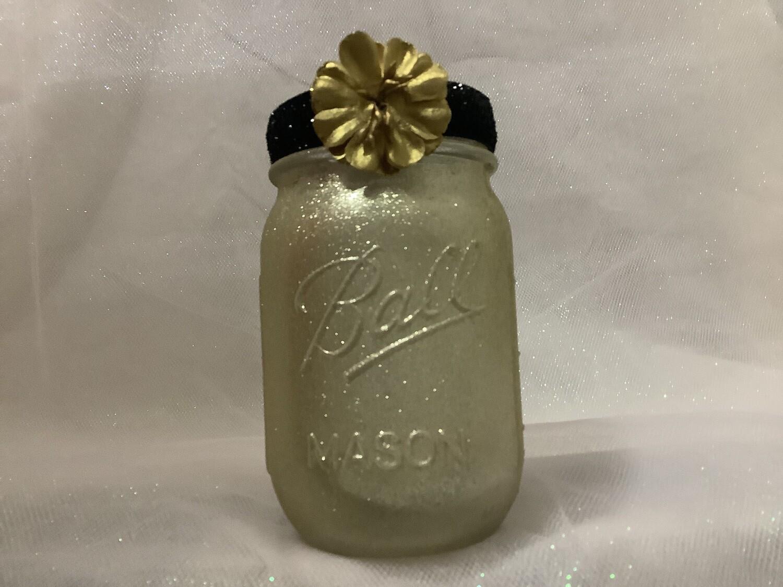 pint jar gold black trim