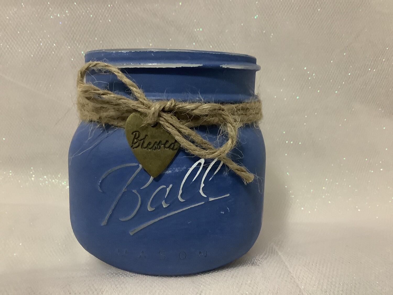 Small Blue Mason Jar