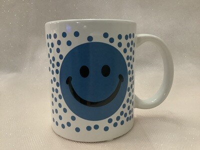 Smiley Face Mug - Polka Dot