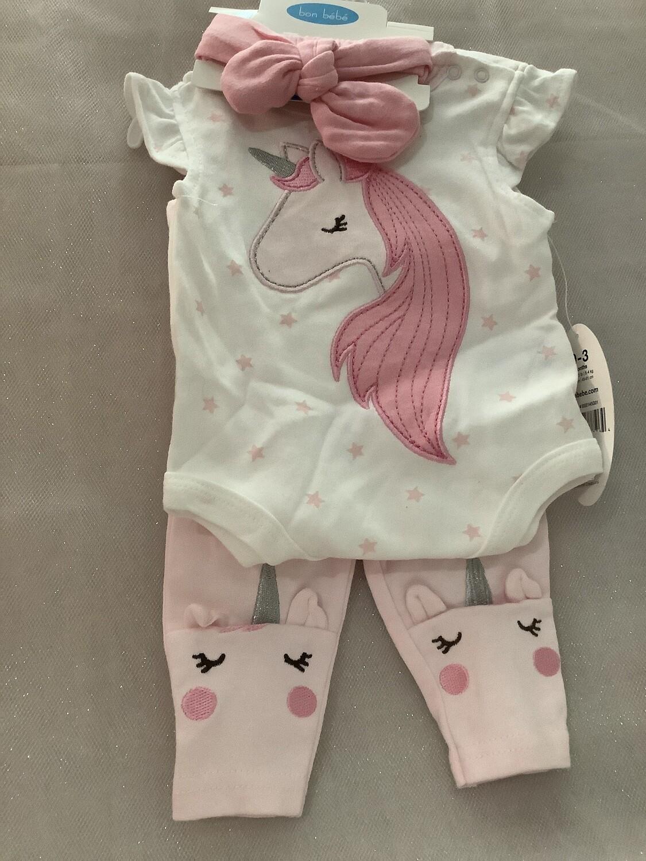 Baby Clothing Set - Unicorn 0-3 MONTHS